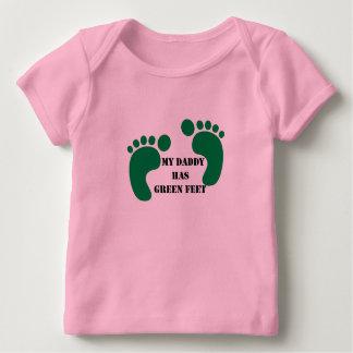 T-shirt Pour Bébé Mon papa a les pieds verts