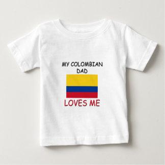 T-shirt Pour Bébé Mon PAPA COLOMBIEN m'aime