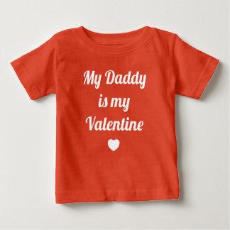 T-shirt Pour Bébé Mon papa est ma chemise de rouge de filles de