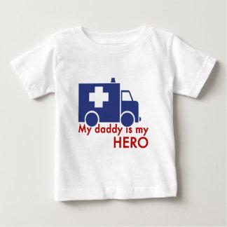 T-shirt Pour Bébé Mon papa est mon héros