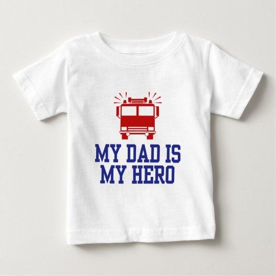 t shirt pour b b mon papa est mon h ros. Black Bedroom Furniture Sets. Home Design Ideas