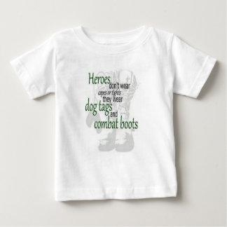 T-shirt Pour Bébé Mon papa est un héros