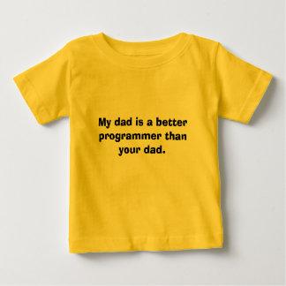 T-shirt Pour Bébé Mon papa est un meilleur programmeur que votre