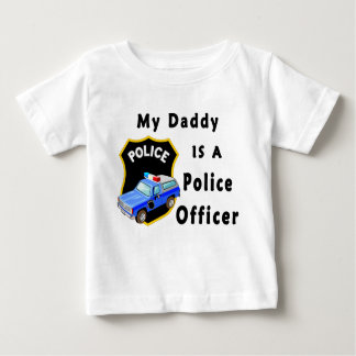 T-shirt Pour Bébé Mon papa est un policier