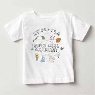T-shirt Pour Bébé Mon papa est un scientifique frais superbe (le