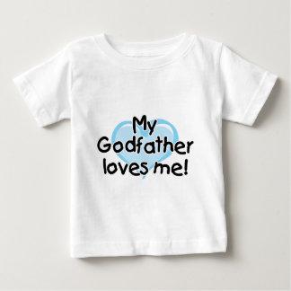 T-shirt Pour Bébé Mon parrain m'aime (le bleu)