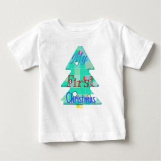 T-shirt Pour Bébé Mon premier Noël. Conception d'arbre