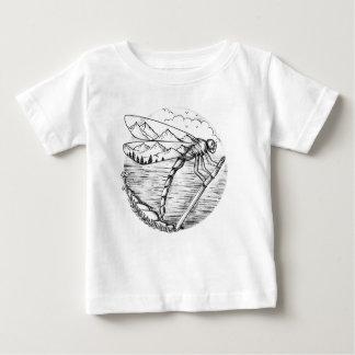 T-shirt Pour Bébé Montagne de libellule à l'intérieur de tatouage
