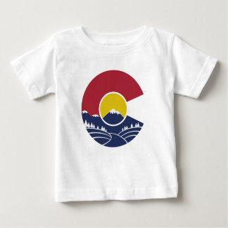 T-shirt Pour Bébé Montagne rocheuse le Colorado C