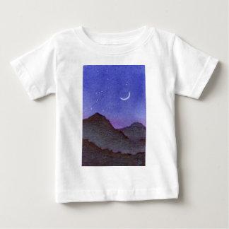 T-shirt Pour Bébé Montagnes d'Orion et de croissant de lune