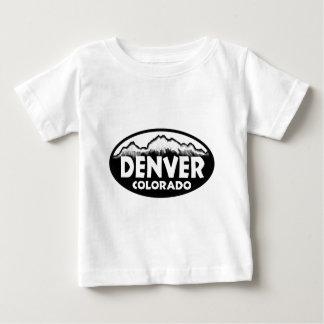 T-shirt Pour Bébé Montagnes d'ovale de Denver le Colorado