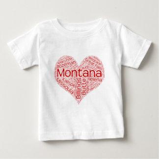 T-shirt Pour Bébé Montana-coeur