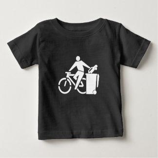 T-shirt Pour Bébé Montez un vélo pas une voiture