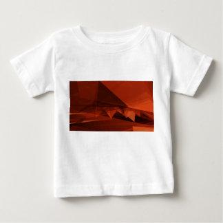 T-shirt Pour Bébé Motif artistique de basse poly conception orange