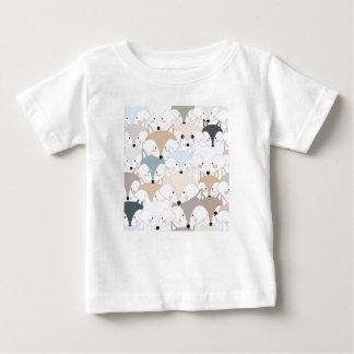 T-shirt Pour Bébé Motif mignon de renard ou de loup de bande