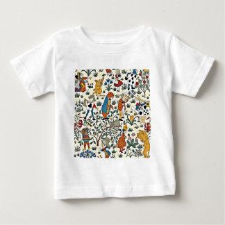 T-shirt Pour Bébé Motif vintage de tissu d'Alice et d'amis