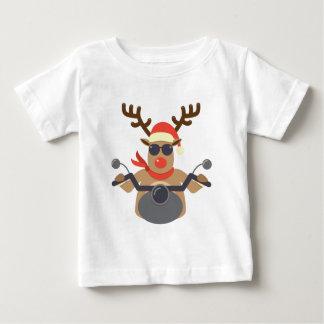 T-shirt Pour Bébé Moto drôle de motard de Rudolf de Noël