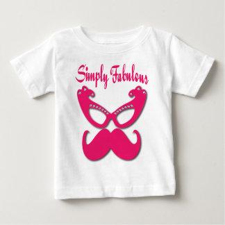 T-shirt Pour Bébé Moustache rose et verres roses simplement fabuleux