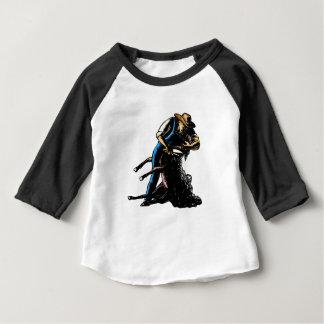 T-shirt Pour Bébé Moutons de cisaillement Scratchboard de haveuse de