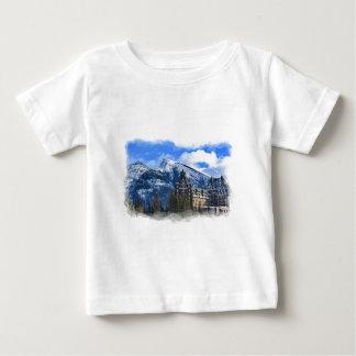 T-shirt Pour Bébé Mt Rundle et hôtel célèbre, Banff, Alta, Canada