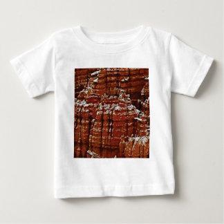 T-shirt Pour Bébé mur de roche de forme de forme d'érosion