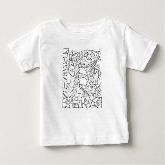 T-shirt Pour Bébé Mur fantastique de jardin de forêt