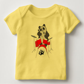T-shirt Pour Bébé musicien de panda