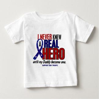 T-shirt Pour Bébé N'a jamais connu un papa du héros 2 (soutenez nos