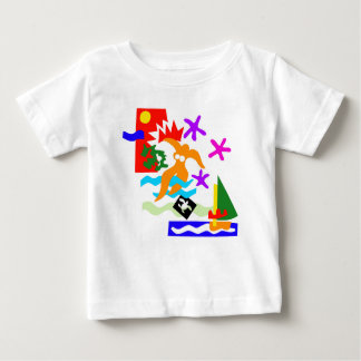 T-shirt Pour Bébé Nageur d'été - t'shirt de bébé