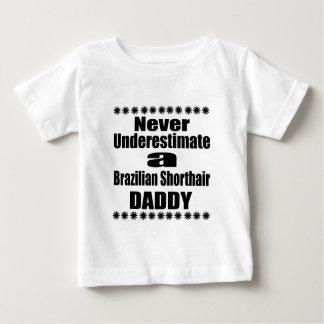 T-shirt Pour Bébé Ne sous-estimez jamais le papa de Shorthair de
