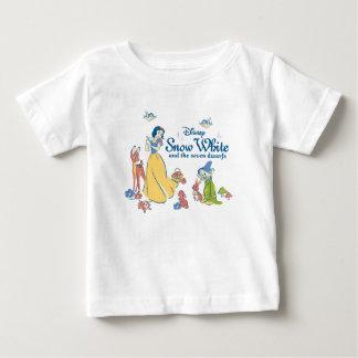 T-shirt Pour Bébé Neige blanche et stupéfiée avec des amis