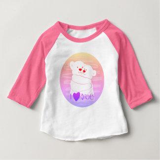 T-shirt Pour Bébé Néon mignon polaire de rose d'étreinte d'hiver