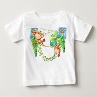T-shirt Pour Bébé Noël de singe