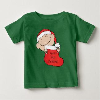 """T-shirt Pour Bébé Noël """" du bébé de Noël """"premier"""