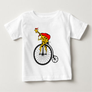 T-shirt Pour Bébé Noël du père noël de girafe