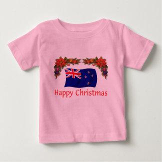 T-shirt Pour Bébé Noël heureux de la Nouvelle Zélande