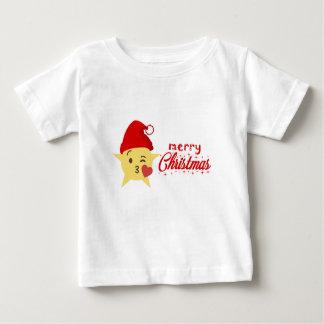 T-shirt Pour Bébé Noël mignon de coussin d'icône Joyeux