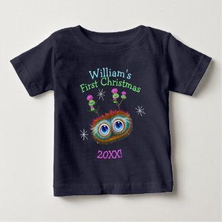 T-shirt Pour Bébé Noël personnalisé de Haggis d'écossais premier !