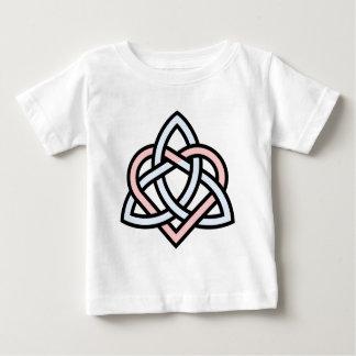 T-shirt Pour Bébé Noeud de coeur de Triquetra