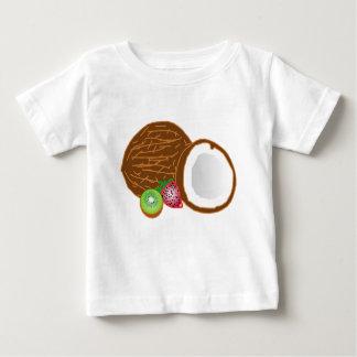 T-shirt Pour Bébé Noix de coco tropicales de kiwi