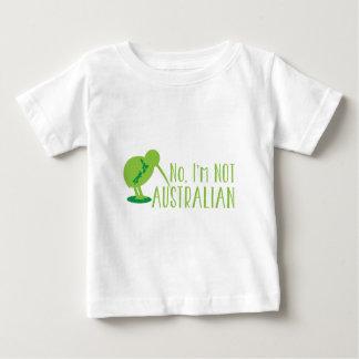 T-shirt Pour Bébé Non, je ne suis pas AUSTRALIEN (avec l'oiseau et