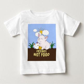 T-shirt Pour Bébé Nourriture d'amis pas - porc et poulet mignons