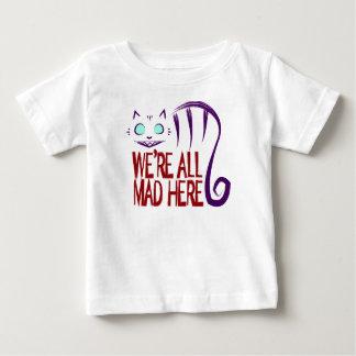 T-shirt Pour Bébé Nous sommes tous fous ici