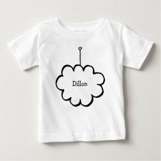 T-shirt Pour Bébé Nuage personnalisé sur une ficelle