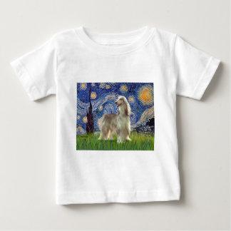 T-shirt Pour Bébé Nuit étoilée - lévrier afghan (sable)
