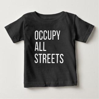 T-shirt Pour Bébé Occupez toutes les rues