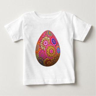 T-shirt Pour Bébé Oeuf de pâques modelé coloré