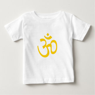 T-shirt Pour Bébé OHM, yoga d'OM Namaste, jaune de soleil