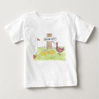 T-shirt Pour Bébé Oie d'or contre le poulet