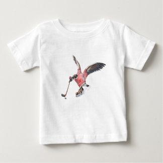 T-shirt Pour Bébé Oie du Canada jouant à l'hockey